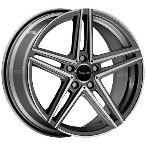 avus ac 515 19 anthracite polished dan wheels. Black Bedroom Furniture Sets. Home Design Ideas